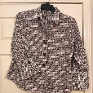 Foxcroft fitted wrinkle free button front shirt 14